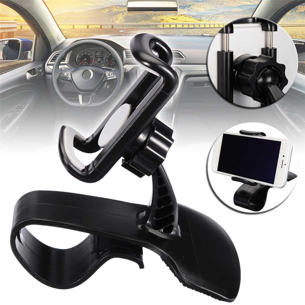 Mayitr Universal 360 Degree Car HUD Design Dashboard Mount Stand Holder Adjustable Mobile Cell Phone GPS For Iphone XS XR Max