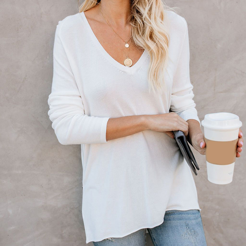 T-Shirt Women Spring Top Shirts Long Sleeve Autumn Casual Tshirt Female T Shirt Women's Tops Cotton Blend Tees