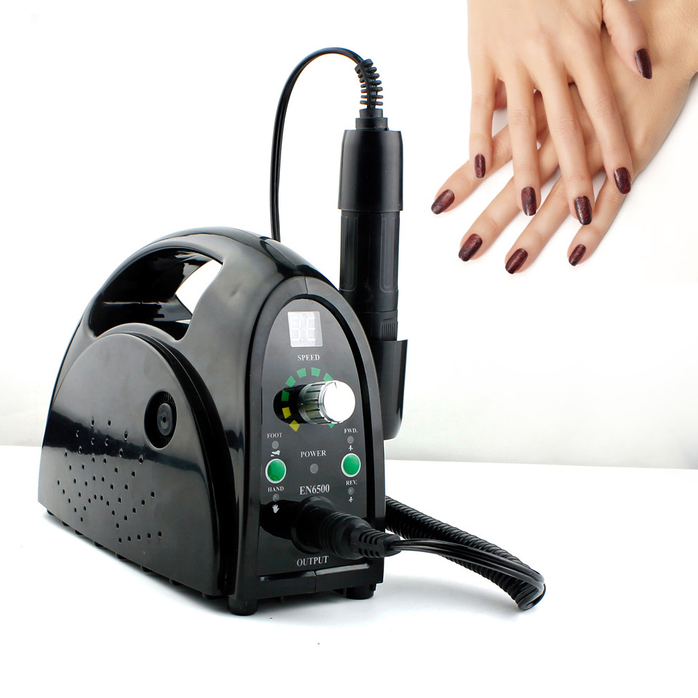 35000RPM Portable 110V/220V Nail Manicure Machine Professional Electric Apparatus for Nails Milling Cutter Kit Set Nail Art Tool 35000rpm portable 110v 220v nail manicure machine professional electric pedicure drill nail milling cutter kit set nail art tool