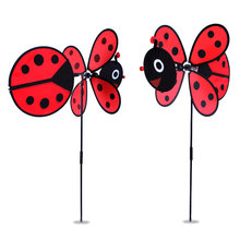 DIY ladybug   windmill 36*80cm    Classic Toys solids multicolors Wind Spinner Whirligig Garden Windmill plastic Toy