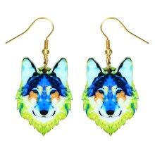 Fashion Acrylic Dangle Long Earrings Women Girls Kids Gift Jewelry Pendant Charm Accessories Drop Wolf Earrings fashion acrylic dangle long earrings women girls kids gift jewelry pendant charm accessories drop fox earrings
