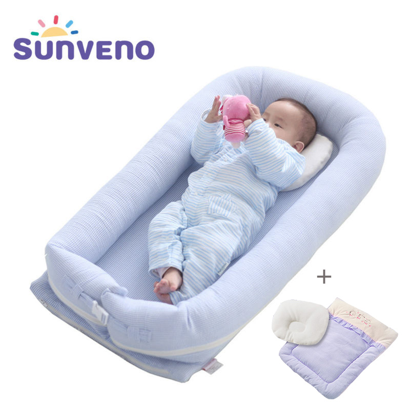 Sunveno 0 2 Years Portable Baby Bed Crib Newborn Infant