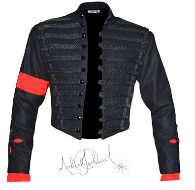 МД Майкл Джексон MTV AWARDS военная куртка - Цвет: BLACK
