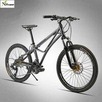 جديد تماما سبائك الألومنيوم إطار الدراجة الجبلية الرياضة في الهواء 24/26 بوصة عجلة 24/27 سرعة القرص الفرامل mtb دراجة bicicleta
