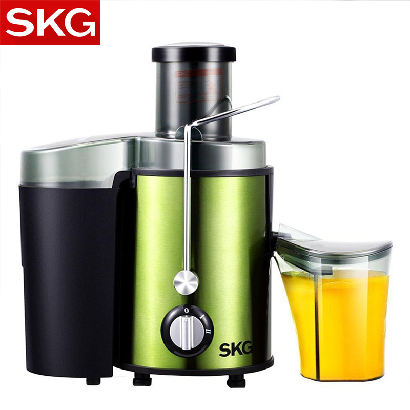 Skg Electric Juicer Fruit And Vegetables Stainless Steel Orange Household Juicing Machine Round Feed Table Ce Press Squeezer