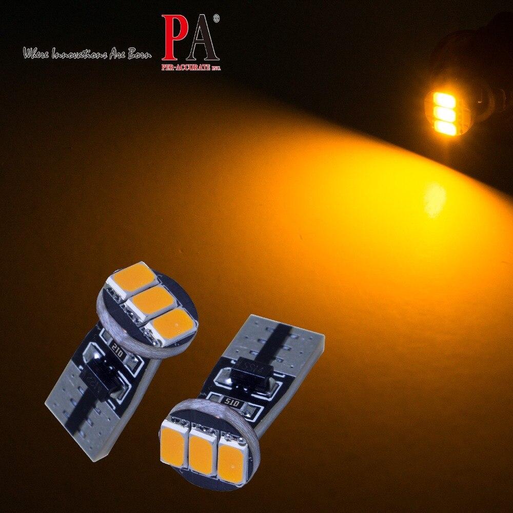 PA LED 4pcs x T10 W5W 5630 3SMD Yellow Amber Side Marker Turn Signal Parking LED Light B ...