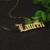 Fonte Inglês Velho Personalizado Nome Colar de Prata Maciça atacado 925 Prata Jóias Placa de Identificação Personalizado Presente de Natal