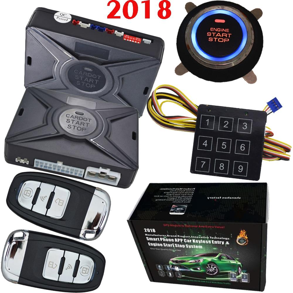 מוצר - Top smart security car alarm passive keyless entry auto ...