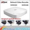 Original versão egnlish dahua mini-nvr 4/8ch 1u network video recorder nvr4104 nvr4108