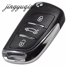 Jingyuqin ключ флип изменение Оболочки чехол для Toyota Prius Vios Camry RAV4 Highlander Corolla Корона COROLLA EX для Mazda