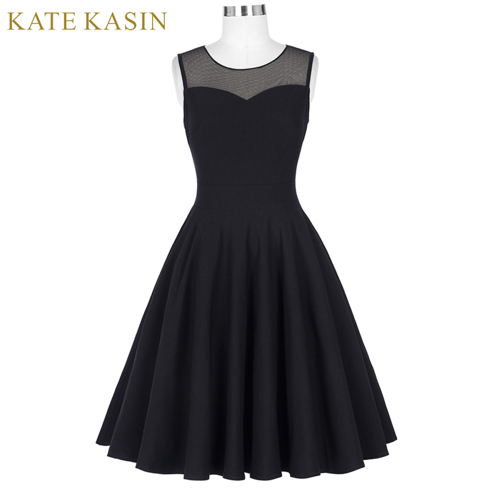 5af84d92ccaf Kate Kasin Brand 2017 Summer Dress Women Pin Up Party Dresses Big Size 1950s  60s Rockabilly Retro Vintage Lace Tunic Robe Femme-in Dresses from Women s  ...