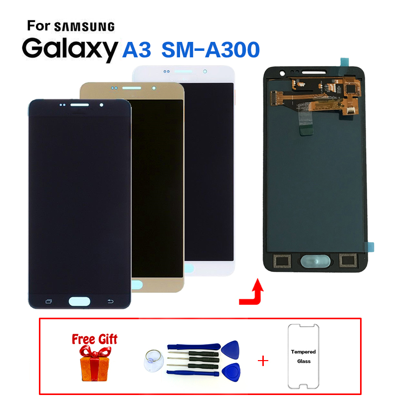 For Samsung Galaxy A3 SM-A300F A300FU Display LCD Screen Replacement for Samsung A300M A300G A300Y A3000 A3009 display module(China)