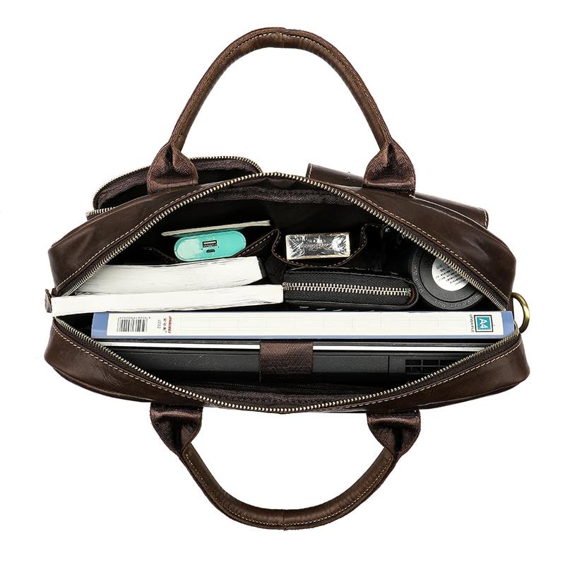 WESTAL men s briefcase bag men s genuine Leather laptop bag office bags for men business WESTAL men's briefcase bag men's genuine Leather laptop bag office bags for men business porte document briefcase handbag 8503