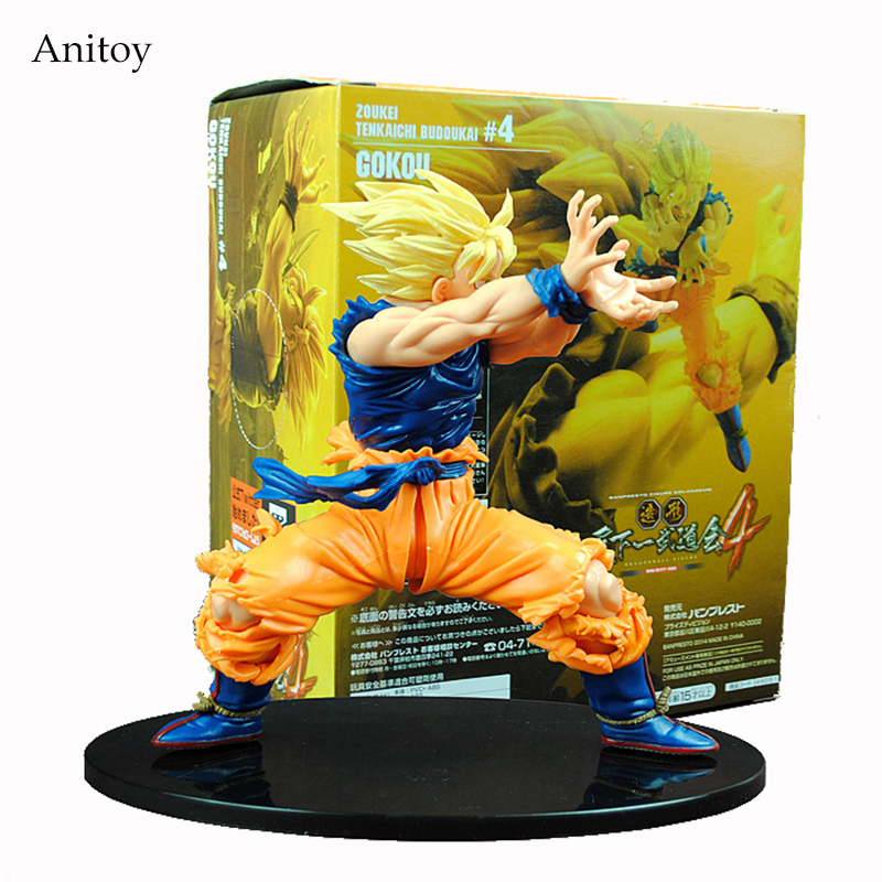 Anime Dragon Ball Z Son Goku Super Saiyan PVC Action Figure Collectible Model Toy 17CM KT4200 anime dragon ball z super saiyan son goku 22cm pvc action figure anime model toys
