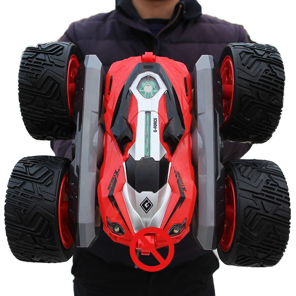 rc car Super four wheel drive off road rc car drift stunt deformation double sided car rechargeable children's toy car-in RC Cars from Toys & Hobbies
