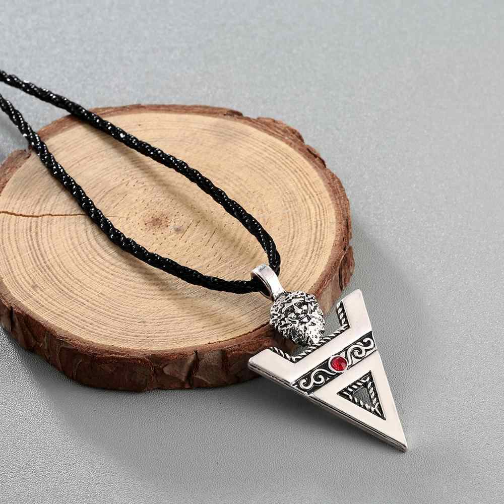 Chereda Veles znak męskie naszyjniki kulturze słowiańskiej paganu znak antyczny srebrny Amulet ręcznie wisiorki biżuteria