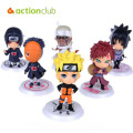 6 pcs/set anime New Naruto Cute Figure Set Figurine PVC Toy movie & tv  action figure