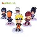 6 unids/set anime nueva Naruto figura linda Set figurita PVC cine y tv figura de acción