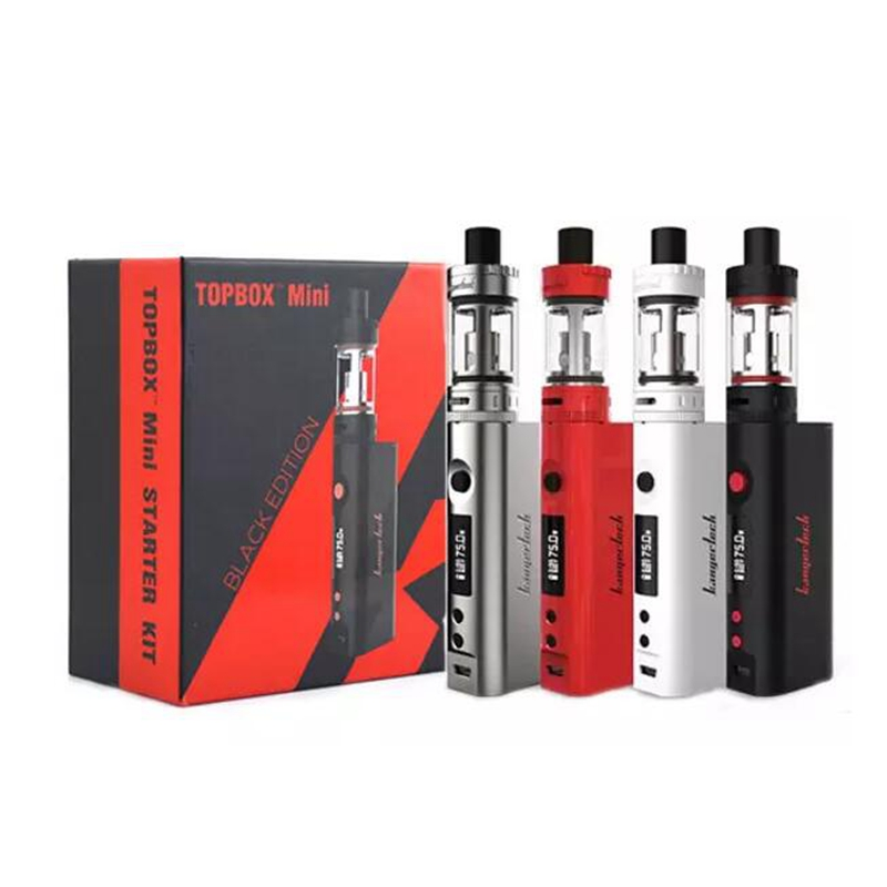 Electronic Cigarette Kangertech Topbox mini kit TC75W Vapor Topbox mini Box Mod 4ml Toptank vaporizer Atomizer VS Evic vtwo mini