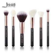Jessup preto/rosa de ouro profissional pincéis maquiagem conjunto de maquiagem kit ferramenta buffer pintura bochecha destaque maquiagem escova beleza
