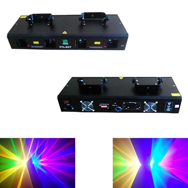 hot selling 800mW  4 lens RGYB  color  DMX 512 laser dj sound equipment disco stage lighting rg mini 3 lens 24 patterns led laser projector stage lighting effect 3w blue for dj disco party club laser