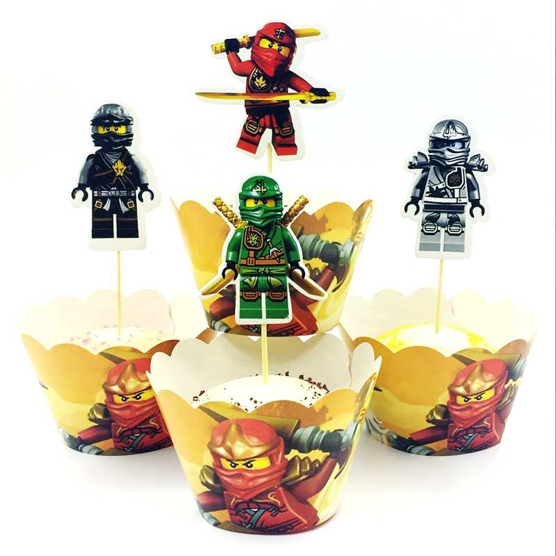 Baby Shower Cake Toppers Events Party Ninjago Theme Kids