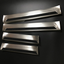 NEW! 4pcs Door Sill Scuff Plate Welcome Pedal Stainless Steel for Mazda CX-5 2017 4pcs Accessories