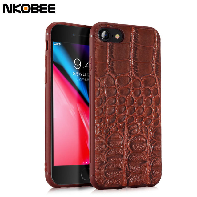 coque iphone 8 plus en cuir crocodile