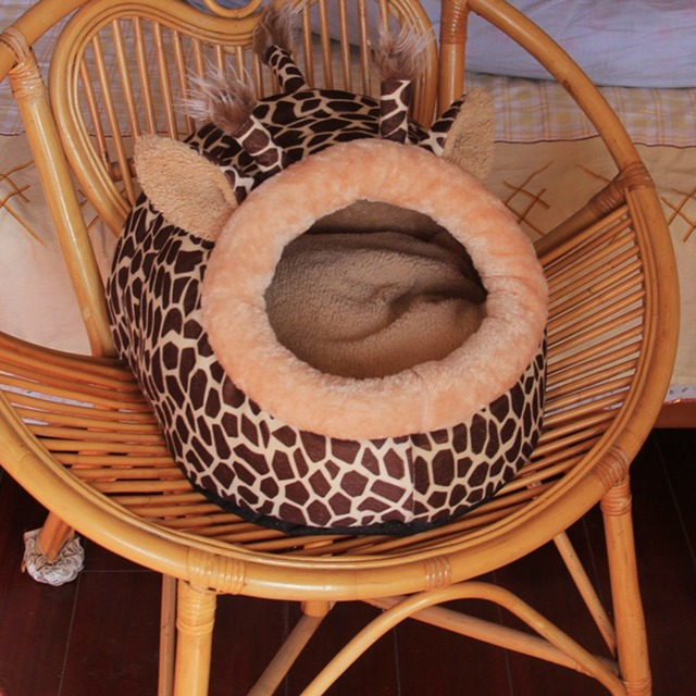 Soft Warm Dog House Leopard Pet Sleeping Bag House for Small Medium Dog Cats Pet Supplies Cat Products S/M/L 3