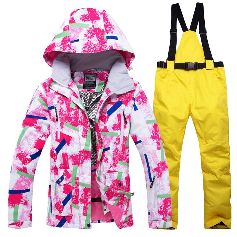Women Ski Suits Suspender Outdoor Sports Warm Windproof Waterproof Breathable Ski- & Snowboard-Handschuhe