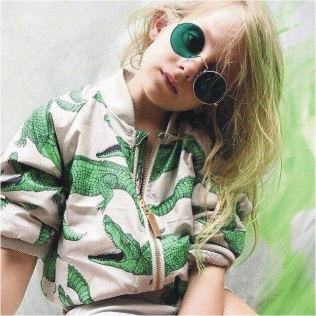 4f36b60e5 boys Girls coat 2019 New Children Jacket Crocodile Print Kids warm ...