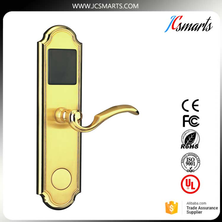 Electric Hotel lock Cheaper RF card door lock for hotel room digital electric best rfid hotel electronic door lock for flat apartment