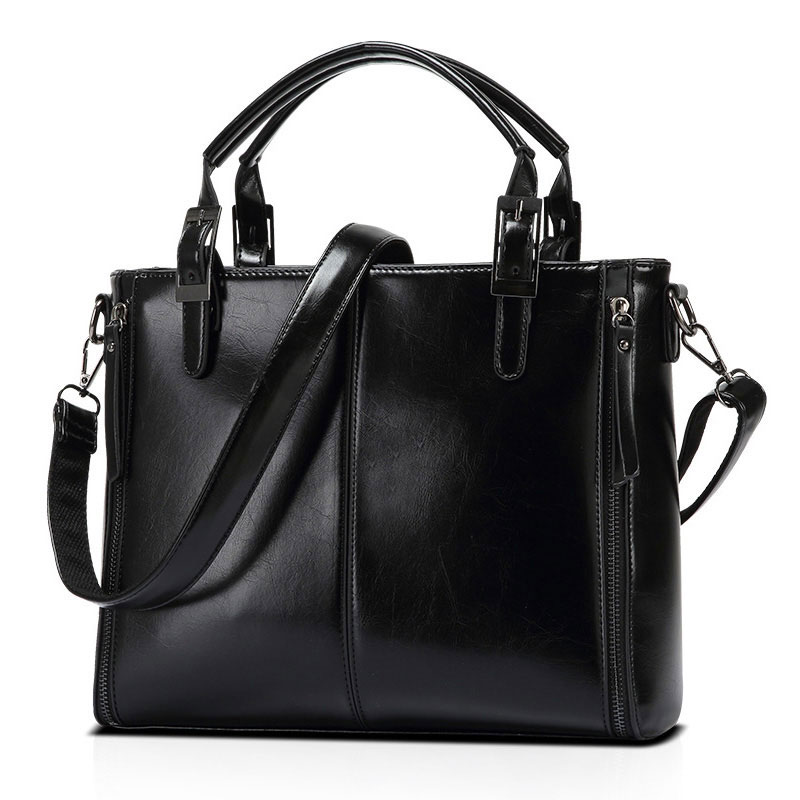 New Brand Women Handbags Genuine Leather Woman Tote Shoulder Bag Vintage Ladies Messenger Bags Real Leather Female Bag Bolsas 75 zency new women genuine leather shoulder bag female long strap crossbody messenger tote bags handbags ladies satchel for girls