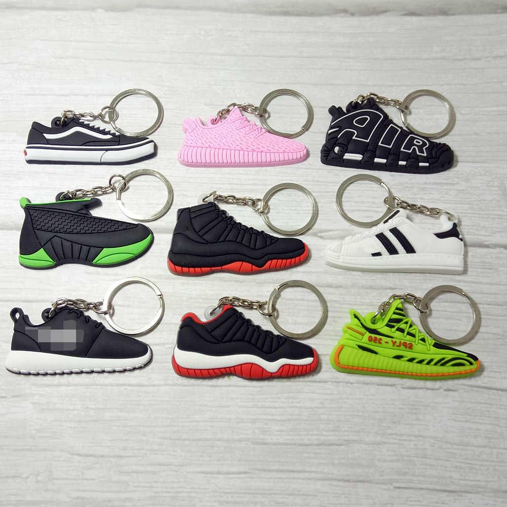 Jordan Sapatos Cadeia Chaveiro Charme Saco Chave de Silicone Mulher Homens Crianças Presentes Chave Anel Chave Da Sapatilha Acessórios Titular