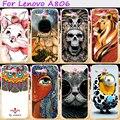 Plástico rígido & soft tpu tampa do telefone para lenovo a8 a806 a808t a808 silicones case legal do crânio amoroso asseclas acessórios flor capô