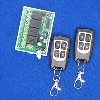 Hot New 1pcs Wireless 12V 4CH 200M Remote Control Relay Switch Transceiver Receiver
