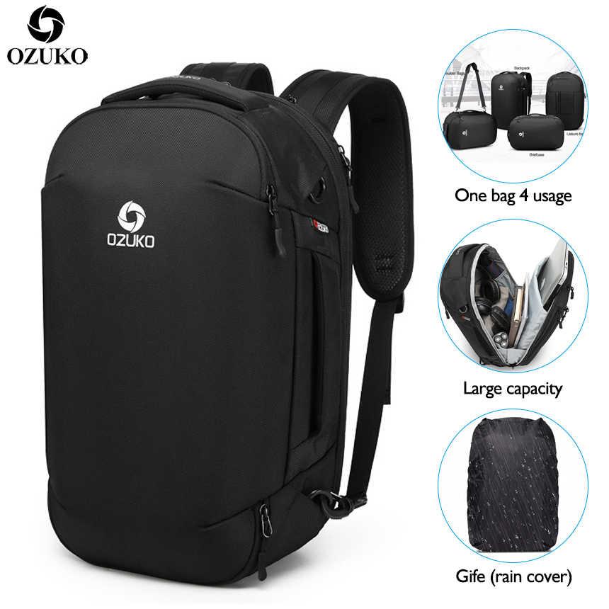 e1e908b47fbc OZUKO Men's 17 Inch Laptop Backpack Large Capacity Waterproof ...
