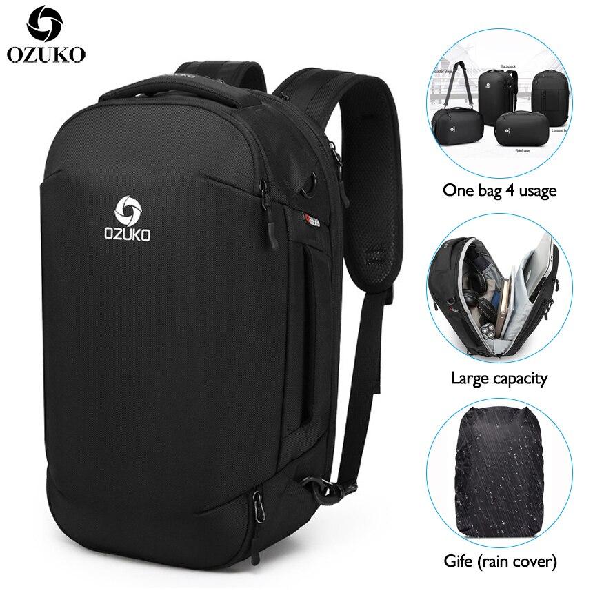 OZUKO 2019 nouveau multifonctionnel mode hommes sacs à dos USB chargement voyage bagages sac à dos mâle Mochila 15.6