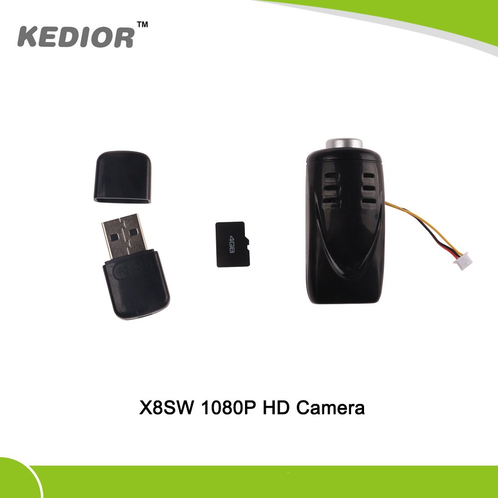 Kedior X8SW RC Quadcopter Drone Spare Parts Video Recorder 1080P HD Camera With 4G Card