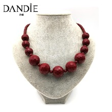 Dandie Bead Necklace, Female handmade Statement Jewelry