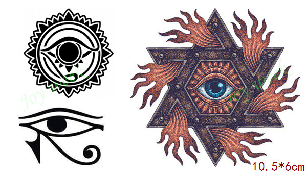 Waterproof Temporary Tattoo Sticker On Body Apollo Sun Totem Tattoo God's Eye Tatto Stickers Flash Tatoo Fake Tattoos For Men