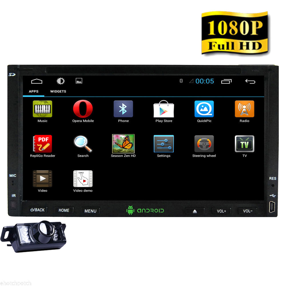 android 4 4 touch screen video app bt car stereo 7 mirror logo radio gps headunit car dvd pc. Black Bedroom Furniture Sets. Home Design Ideas