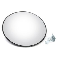 Safurance 45 cm Wide Angle Curved Convex Security Road Mirror For Indoor Burglar Traffic Signal Roadway Safety