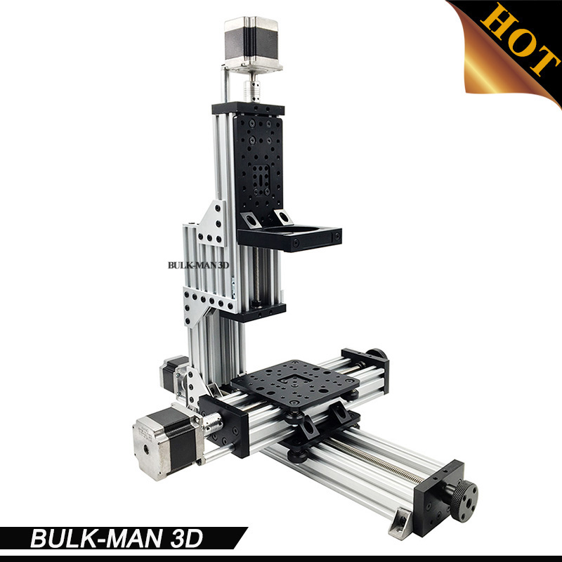 MiniMill Mécanique Kit 3 Axes De COMMANDE NUMÉRIQUE PAR ORDINATEUR de Bureau MiniMill avec 3 pcs Nema 23 moteur pas à pas