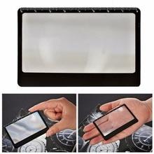цена на Rectangular Magnifier Magnifying Sheet Card Shape Portable Pocket Solar Igniter Fire Starter Ruler Outdoor Camping Equipment 1pc