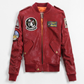 FREE SHIPPING 2017 New Women TOP GUN Genuine Leather Pilot Jacket  Real Sheepskin Slim Fit Lady Fashion Popular Red Leather Coat