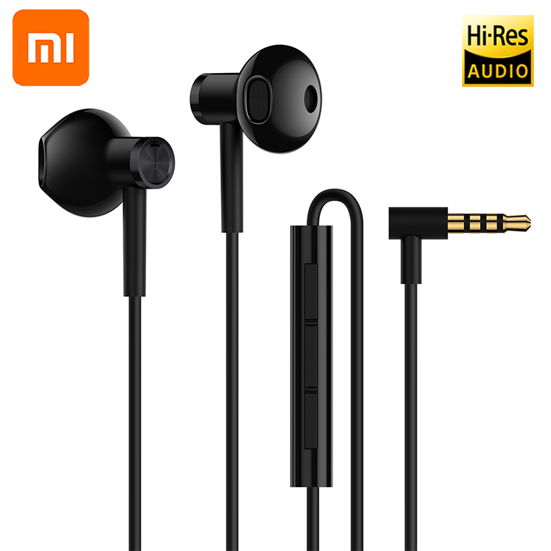 Original Xiaomi Hybrid Dual Driver BASS 3.5mm Universal In-Ear Earphone Wire Control With Mic For MI Max 2 Redmi Note 4 X 4A 5 A