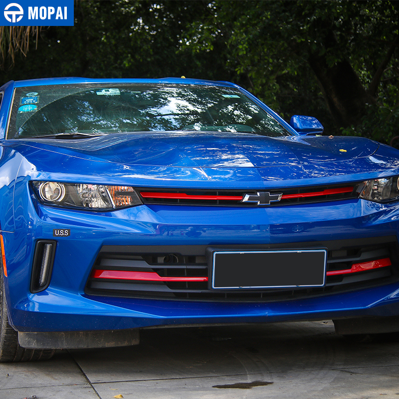 Image 2 - MOPAI Car Exterior Front Grille Cover Decoration Trim ABS Stickers for Chevrolet Camaro 2017 Up Car Accessories Styling-in Chromium Styling from Automobiles & Motorcycles