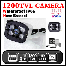 2017HOT 1/3 cmos 1200TVL Водонепроницаемый IP66 Открытый безопасности Hd Цвет Cctv аналоговый Камера IRCUT инфракрасные Ночное видение есть кронштейн