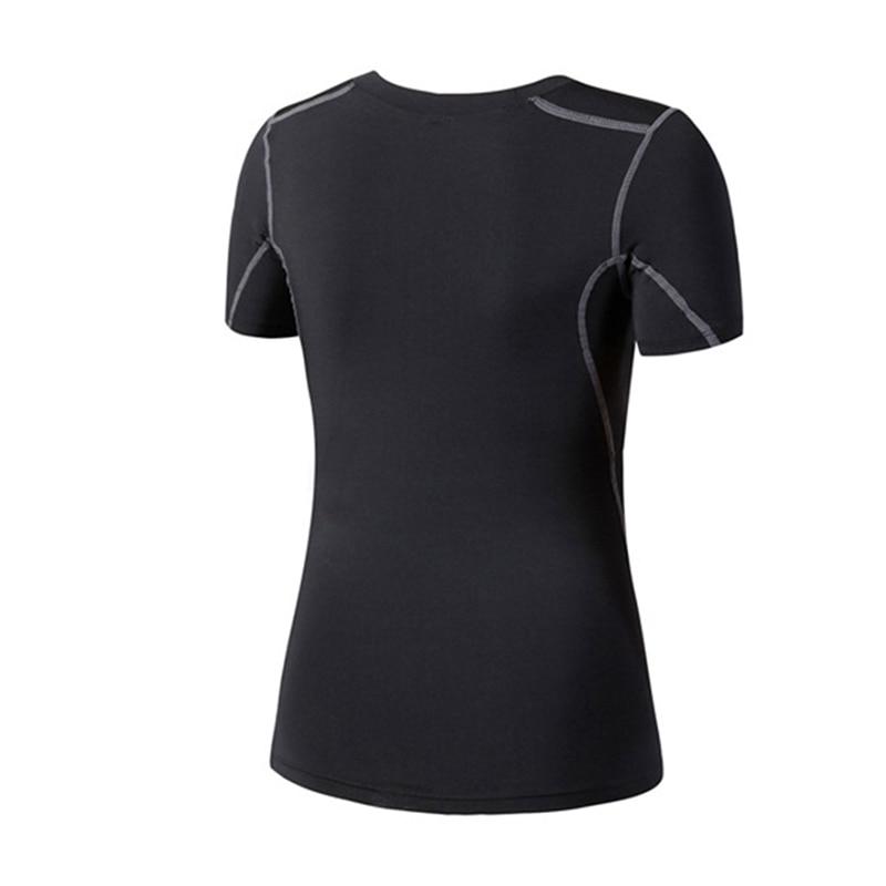 Mujeres Yoga Top camisa deportiva transpirable chalecos Jersey manga corta Bodybuilding Fitness gimnasio correr deportes Top